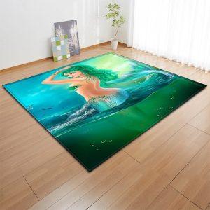 3D Non-slip Mermaid Rug Carpet