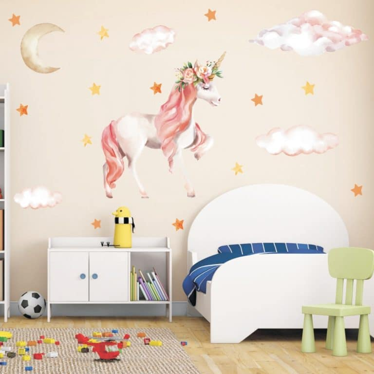 Unicorn Wall Stickers for Kids Room