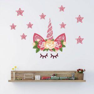 Cute Magic Unicorn Wall Sticker For Kids Room