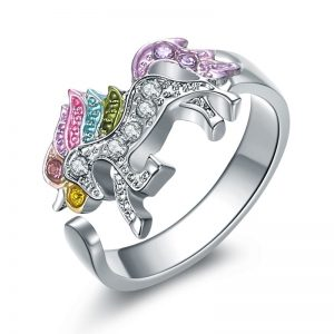 Cute Rainbow Unicorn Crystal Jewellry