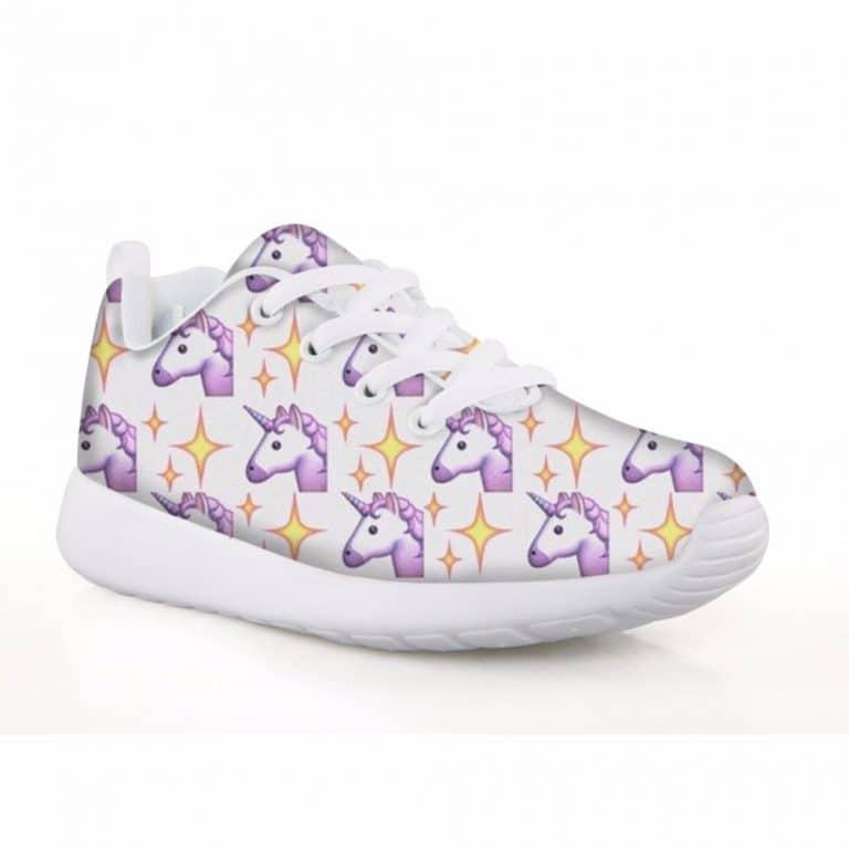 Unicorn Pattern Girls Sneakers