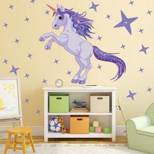 Unicorn Stars Wall Stickers