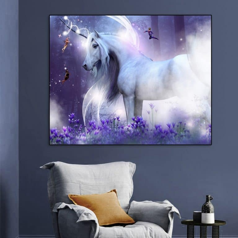Unicorn Painting Calligraphy Posters