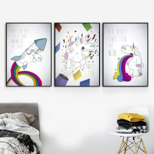 Unicorn Funny Quotes Nordic Posters