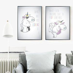 Unicorn Funny Quotes Nordic Posters