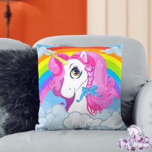 Rainbow Unicorn Pillow