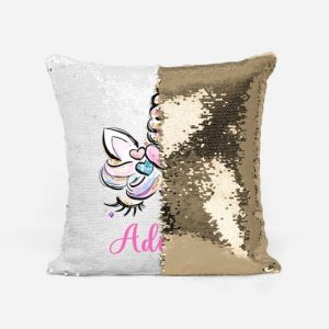 Personalized Unicorn Reversible Sequins Pillowcase