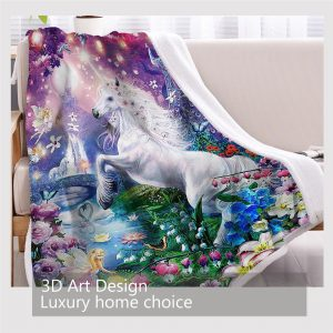 Unicorn Fairy Sherpa Fleece Blanket