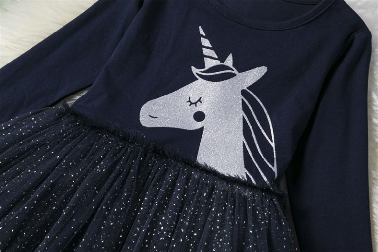 Girls Unicorn Sequined Tutu Dress