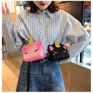 Shiny Unicorn Shoulder Bag