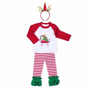 3pcs of Fashionable Unicorn Christmas Costume Set