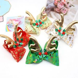 Christmas Reindeer Bows for Girls
