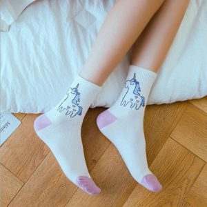 Cotton Unicorn Socks