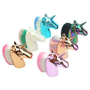 Colorful Unicorn Makeup Brushes