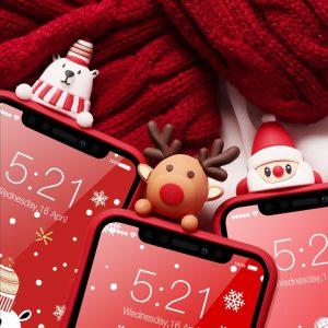 Christmas Cartoon Deer Case For iPhone