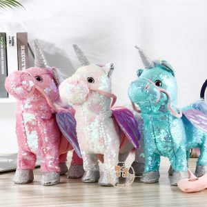 2019 Newest Cute Sequin Unicorn Electric Walking Toy
