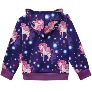 Unicorn in the Galaxy Long-Sleeve Zipper Jacket