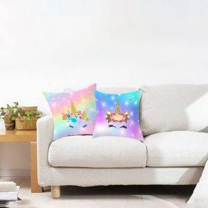 Hologram Galaxy Unicorn Pillow Cover