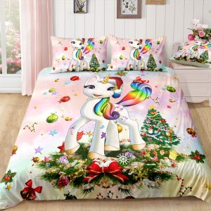 Christmas Unicorn Bedding Set