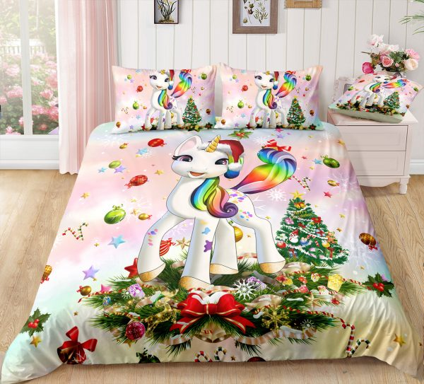 Christmas Unicorn Bedding Set