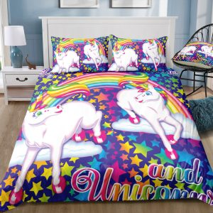 Dazzling Rainbow Sparkle & Unicorn Bedding Set