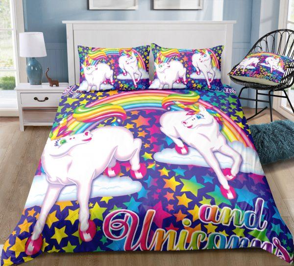 Dazzling Rainbow Sparkle & Unicorn Bedding Set