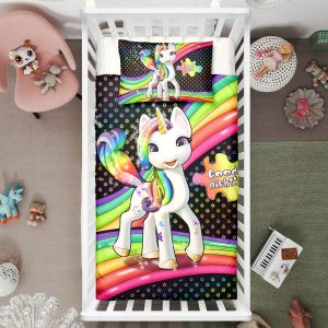 Dottie Elegant Unicorn Crib Bedding Set