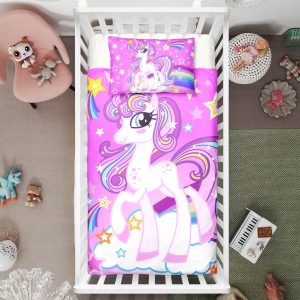 "Rainbow ""Yo Magic"" Unicorn Crib Bedding Set"