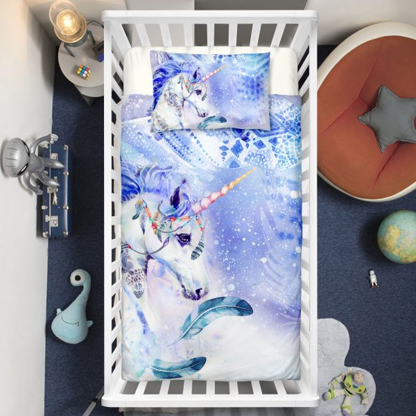 Frozen Unicorn Queen Crib Bedding Set
