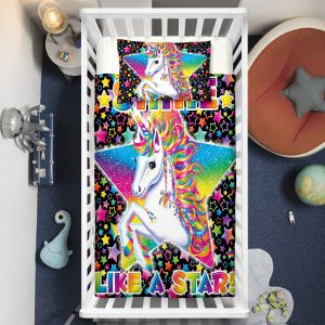 """Like A Star"" Unicorn Crib Bedding Set"