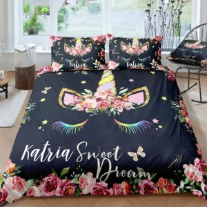Personalized Sweet Unicorn Bedding Set