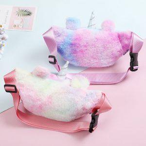Plush Unicorn Waist Wallet Bag