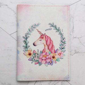 Unicorn PU Leather Travel Passport Holder/Cover