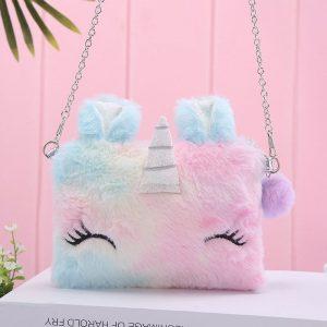 Cute Unicorn Plush Shoulder Bag/Purse