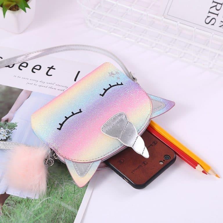 Unicorn Hologram & Rainbow Glittering Shoulder Bag