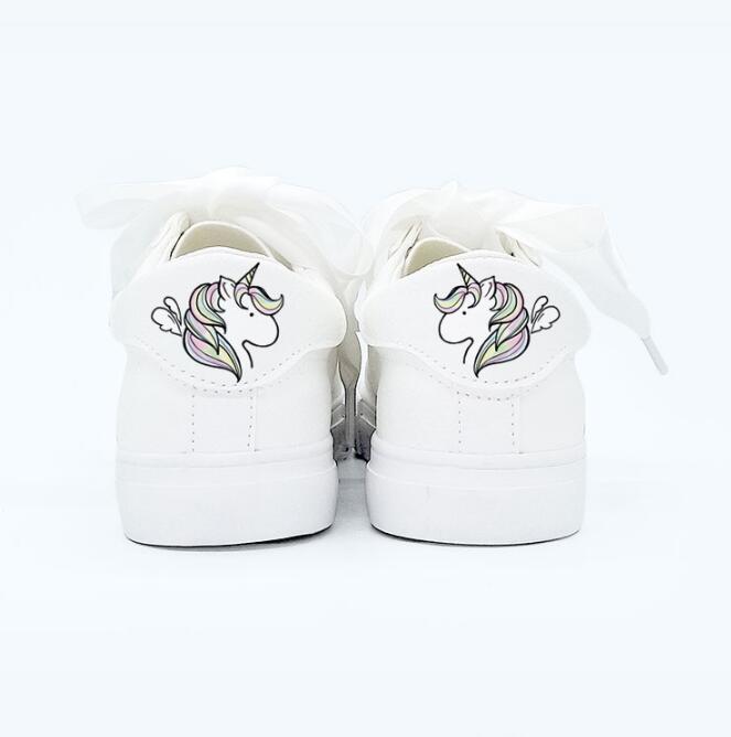 Ribbon Little White Unicorn Sneakers