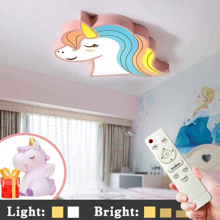 Glowing Unicorn Ceiling Light With Remote Control