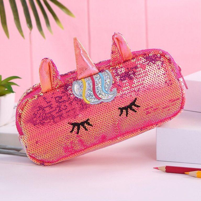 Sleeping Unicorn Sequin Pencil Case