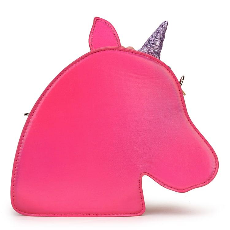 Rainbow Mane Unicorn Cross-body Bag