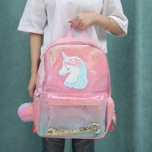 Ombre Sequin & Glittering Unicorn Backpack
