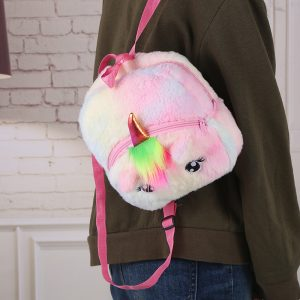 Colorful Unicorn Plush Backpack