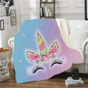Unicorn Fluffy Throw Blankets