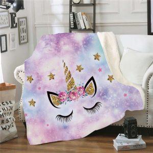 Unicorn Fluffy Throw Blankets