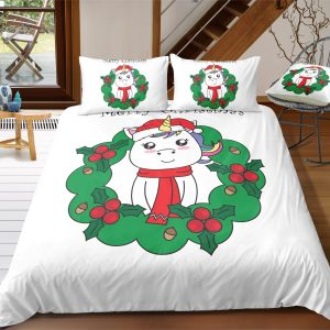 Xmas Unicorn Bedding Set