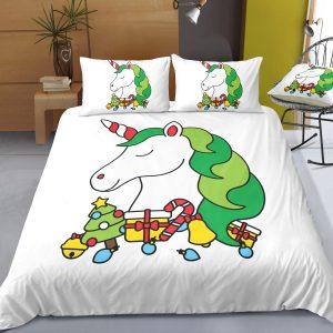 Xmas Gift Unicorn Bedding Set