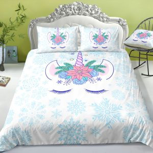 Unicorn Snowflake Bedding Set