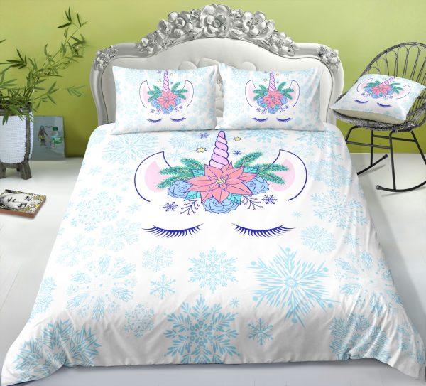 Unicorn Snowflake Bedding Set