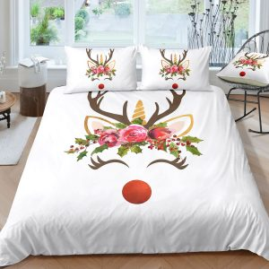 Unicorn Reindeer Bedding Set