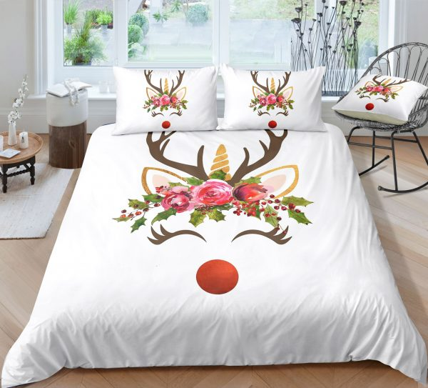Unicorn Reindeer Bedding Set