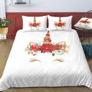 Christmas Unicorn Lash Bedding Set